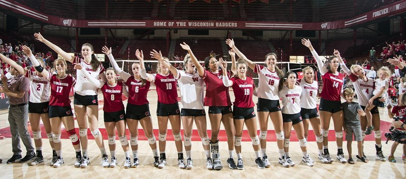 Volleyball Announces Spring Schedule Wisconsin Badgers