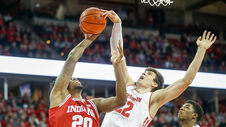 Ethan Happ blocks an Indiana shot attempt 4eb4f360f02d2