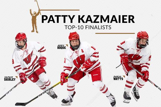 Roque, Shirley and Watts named Patty Kazmaier Memorial Award top-10 finalists | Wisconsin Badgers
